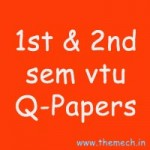 1st and 2nd Sem VTU Old Question Papers