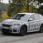 The next generation BMW X1 crossover has been spied testing in Germany. This is the first time the X1 prototype was seen being driven on roads unlike the last time where it was spied on a flatbed truck.